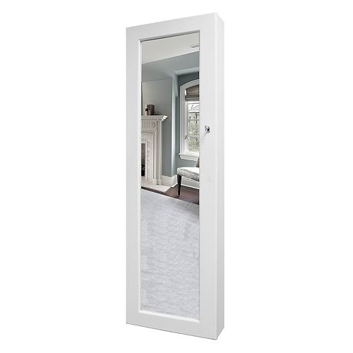 New View Mirrored Over-the-Door Jewelry Armoire