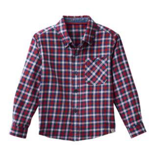 Boys 4-7 No Retreat Red Plaid Shirt