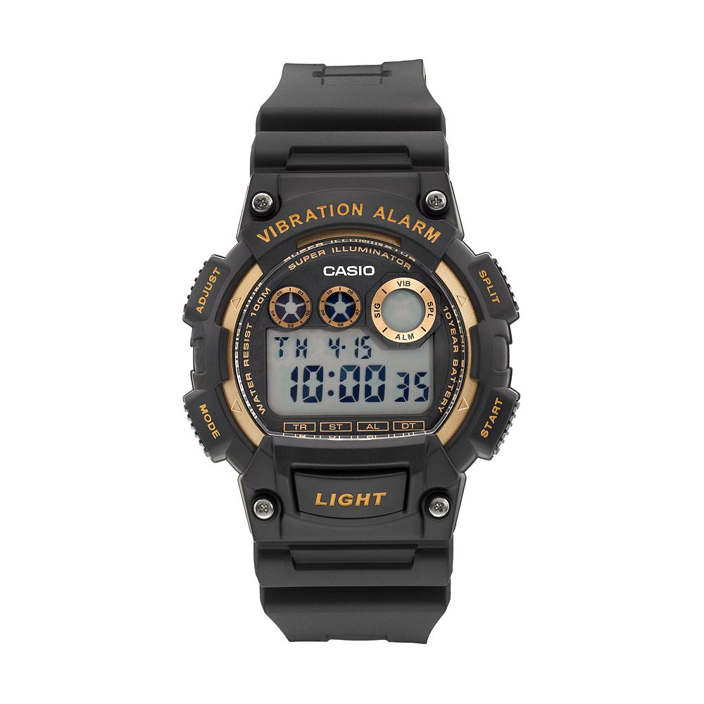 Casio Men's Vibration Alarm Digital Chronograph Watch - W735H-1A2V