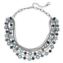 Simply Vera Vera Wang Beaded Link Swag Necklace
