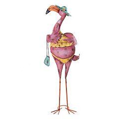 Click here to buy Sunjoy Purse and Bikini Pink Flamingo Garden Statue.
