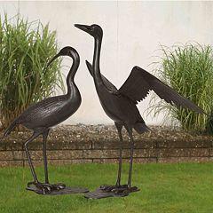 Sunjoy Crane Outdoor Statue 2-piece Set by