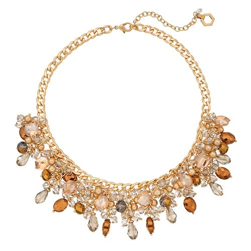 Simply Vera Vera Wang Beaded Cluster Necklace