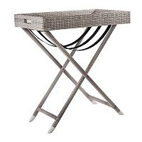 Sunjoy Lotus Folding Serving Tray End Table