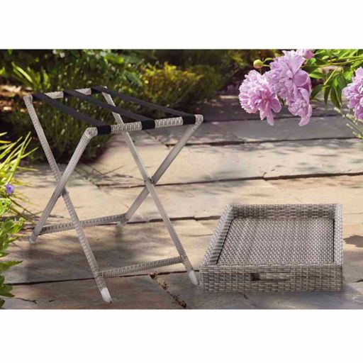 Sunjoy Lotus Folding Serving Tray End Table