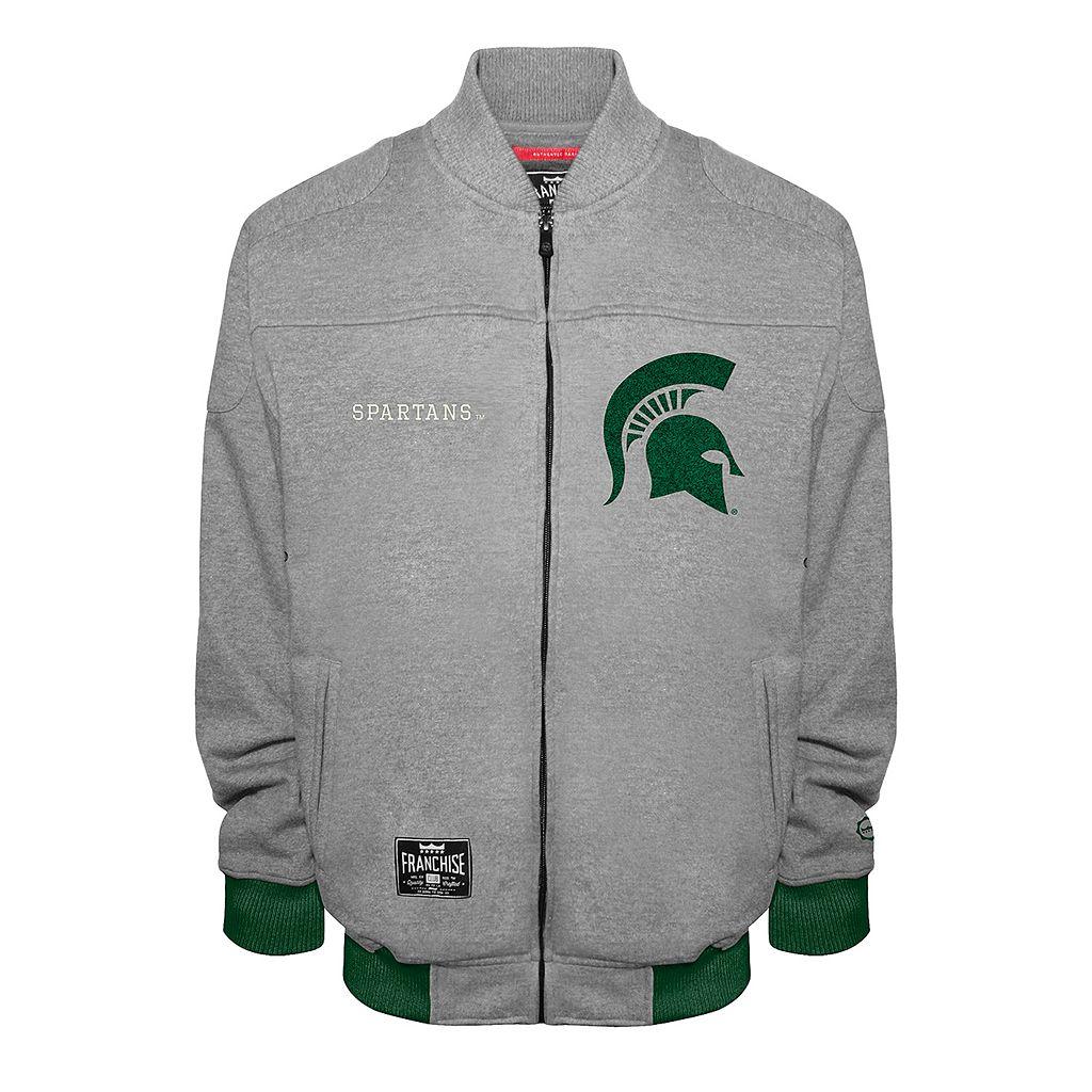 Men's Franchise Club Michigan State Spartans Edge Fleece Jacket
