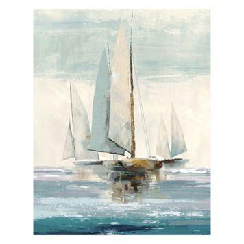Artissimo Quiet Boats Canvas Wall Art