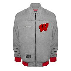 Men's Franchise Club Wisconsin Badgers Edge Fleece Jacket