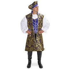 Adult Royal Brocade Pirate Tunic Vest Set Costume by