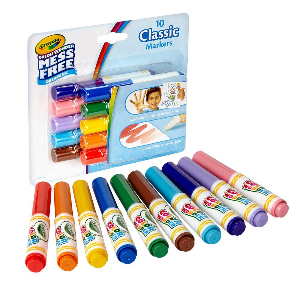 Crayola Mess-Free Color Wonder 10-ct. Mini Markers Set