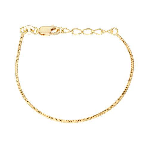 Junior Jewels Kids' Sterling Silver Wheat Chain Bracelet