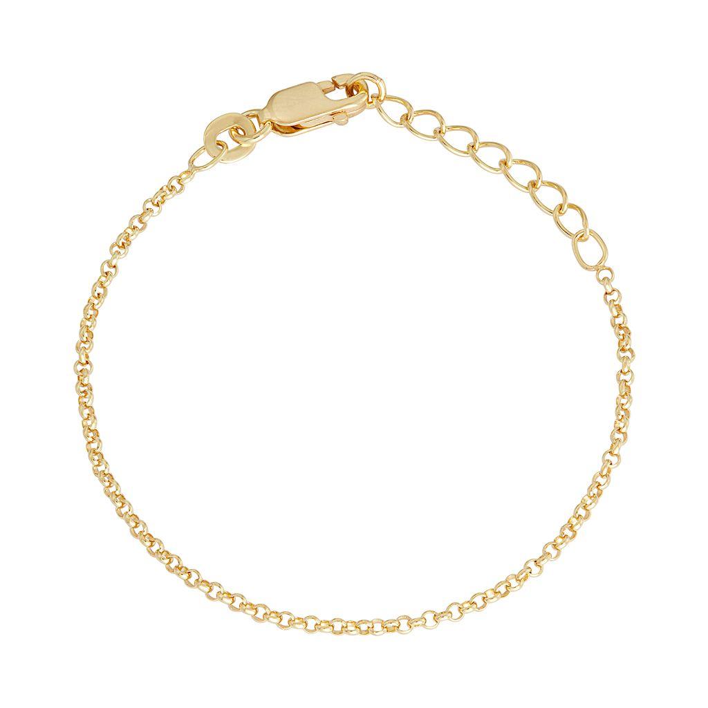 Junior Jewels Kids' Sterling Silver Rolo Chain Bracelet