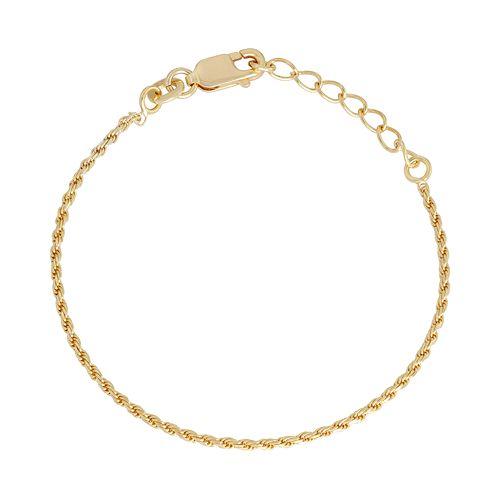 Junior Jewels Kids' Sterling Silver Rope Chain Bracelet