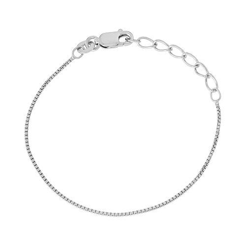Junior Jewels Kids' Sterling Silver Box Chain Bracelet