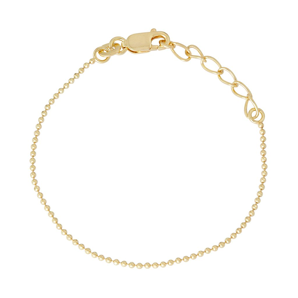 Junior Jewels Kids' Sterling Silver Ball Chain Bracelet