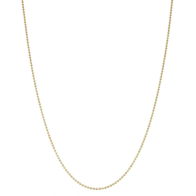 """Junior Jewels Kids' Sterling Silver Ball Chain Necklace, Women's, Size: 13"""", Yellow"""