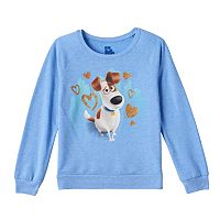 Girls 7-16 The Secret Life of Pets Max Glitter Supersoft Fleece-Lined Top