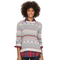 Petite Chaps Fairisle Crewneck Sweater