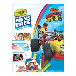 Disneys Mickey Mouse Mess Free Color Wonder Markers Paper Set By Crayola