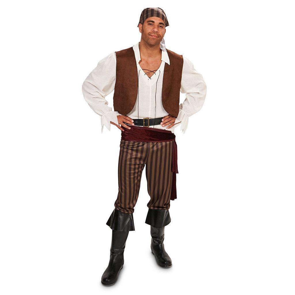 Adult Striped Pirate Costume