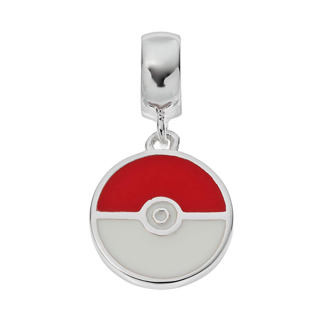 Pokemon Sterling Silver Poke Ball Charm