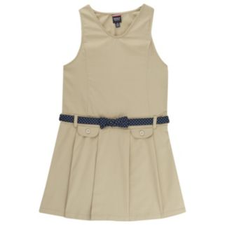 Girls 4-14 French Toast School Uniform Bow Belted Jumper