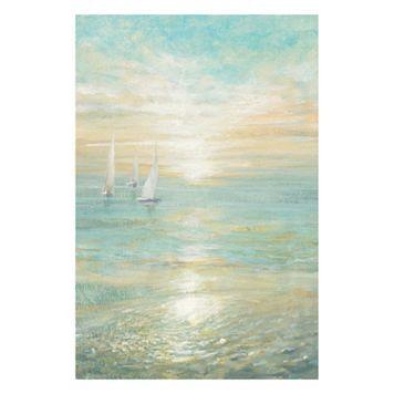 Artissimo Sunrise Sailboats I Canvas Wall Art