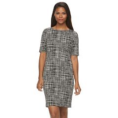 Women's Sharagano Printed Knit Sheath Dress