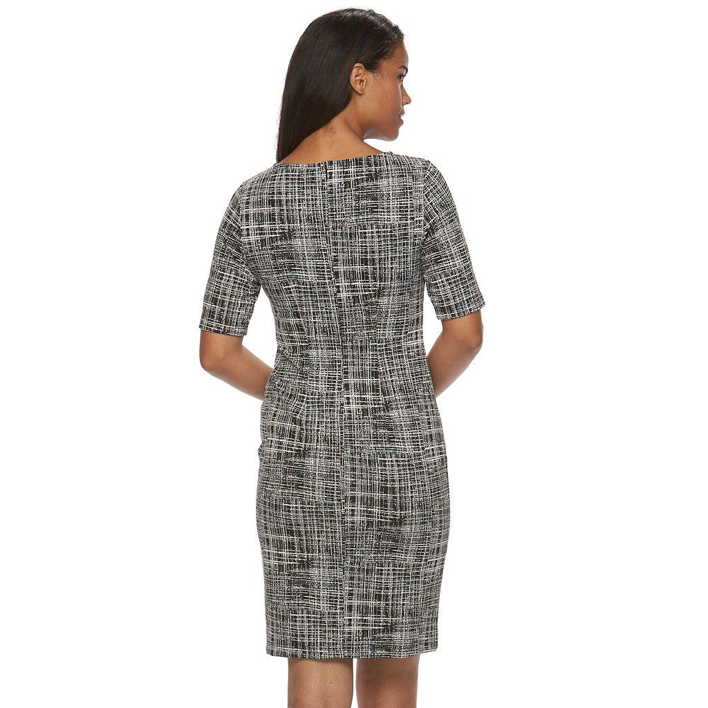 Women's Sharagano Printed Knit Sheath Dress