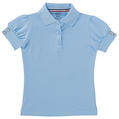 Girls 4-20 & Plus Size French Toast Rhinestone Button School Uniform Polo Shirt
