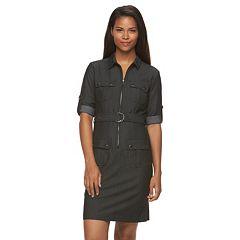 Women's Sharagano Career Denim Shirt Dress