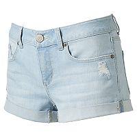 Juniors' SO® Rolled Denim Shortie Shorts