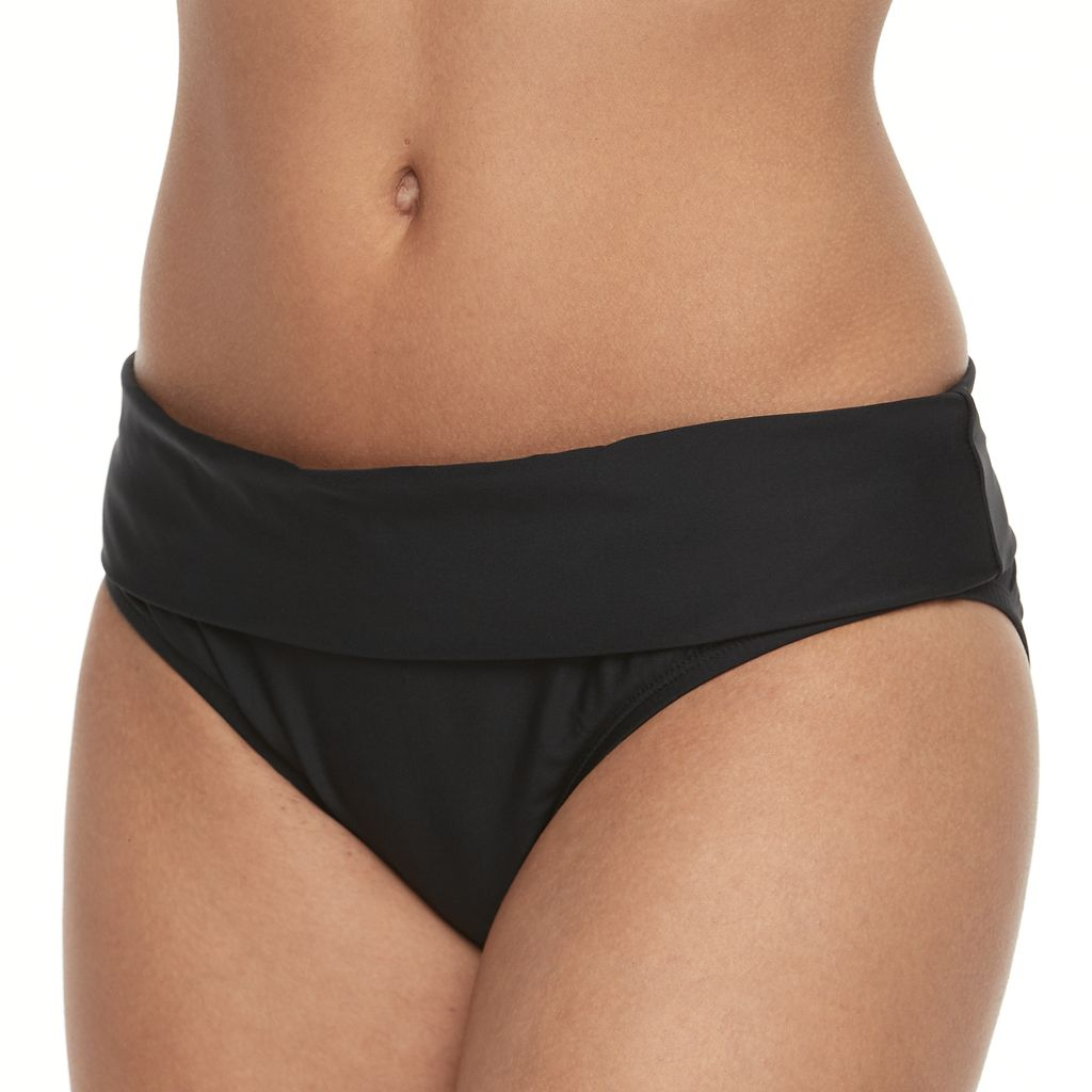 Women's N Good Karma Fold-Over Scoop Bikini Bottoms