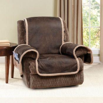 Sure Fit Vintage Leather Recliner Slipcover
