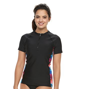 Women's N South Pacific Quarter-Zip Rash Guard