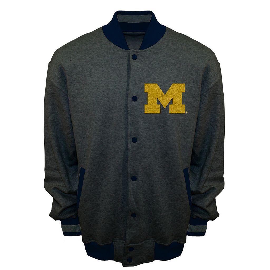 Men's Franchise Club Michigan Wolverines Classic Fleece Jacket