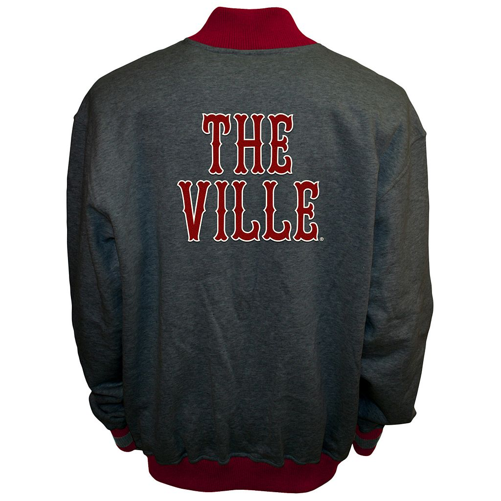 Men's Franchise Club Louisville Cardinals Classic Fleece Jacket
