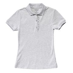 Girls 4-16 French Toast School Uniform Short-Sleeved Ruffle Polo
