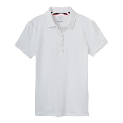 Girls 4-16 French Toast School Uniform Short-Sleeved Ruffle Polo
