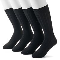 Men's Dockers 4-pack Ribbed Dress Socks