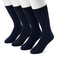 Men's Dockers 4-pack Striped, Solid & Dot Dress Socks
