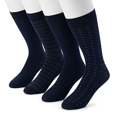 Men's Dockers 4-pack Striped, Solid & Dot Dress Socks