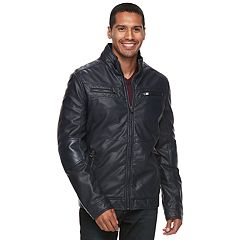 Men's XRAY Faux-Leather Motor Jacket