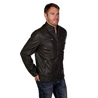 Men's XRAY Faux-Leather Motor Jacket