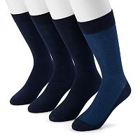Men's Dockers 4-pack Herringbone & Solid Dress Socks