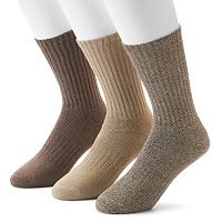 Men's Dockers 3-pack Enhanced Cushioned Crew Socks