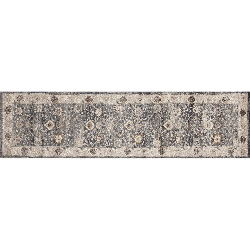 World Rug Gallery Panache Kashan Framed Floral Rug