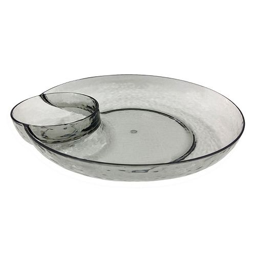 Food Network™ Smoke Textured Acrylic Chip 'N Dip Tray