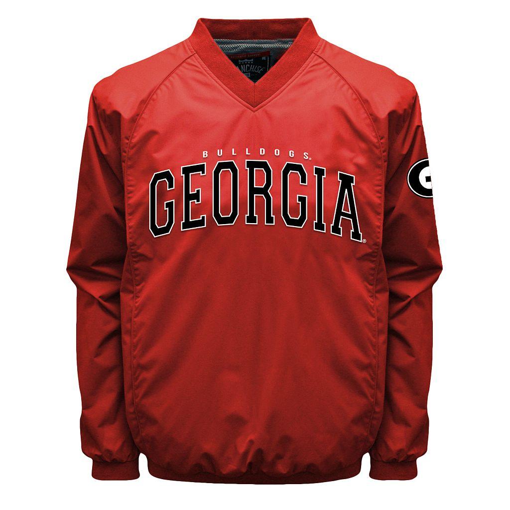 Men's Franchise Club Georgia Bulldogs Coach Windshell Jacket