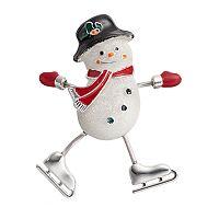 Skating Snowman Pin